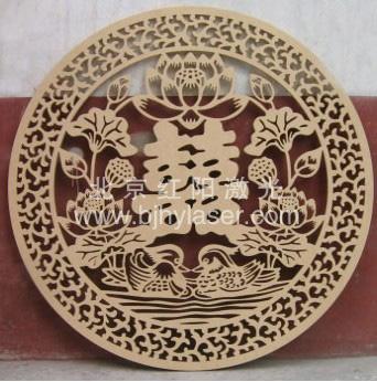 木板激光镂空 - 北京红阳激光雕刻中心
